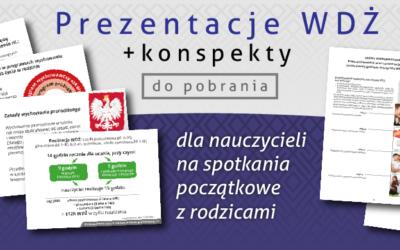 Prezentacje WDŻ + konspekty